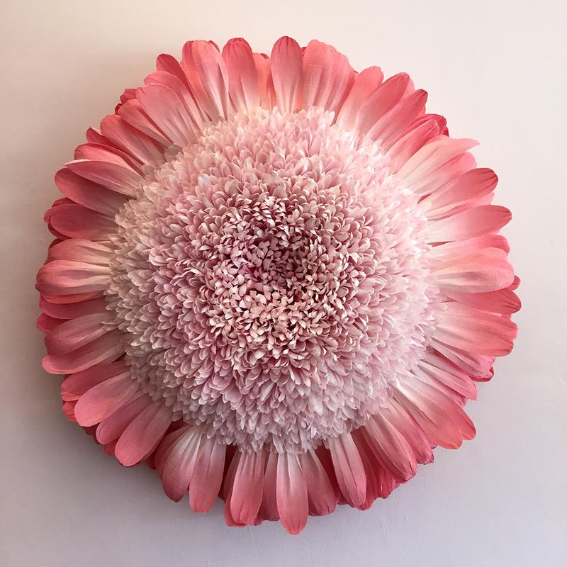 giant pink paper chrysanthemum flower by tiffanie turner