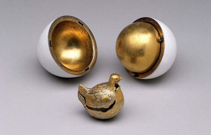 See original new faberg eggs happening now beautifulnow each egg was named the first one was called hen was crafted from gold with an opaque white enamelled shell opening to a matte yellow gold yolk negle Gallery